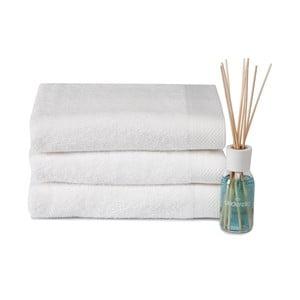Set 3 ručníků a difuzéru Pure White