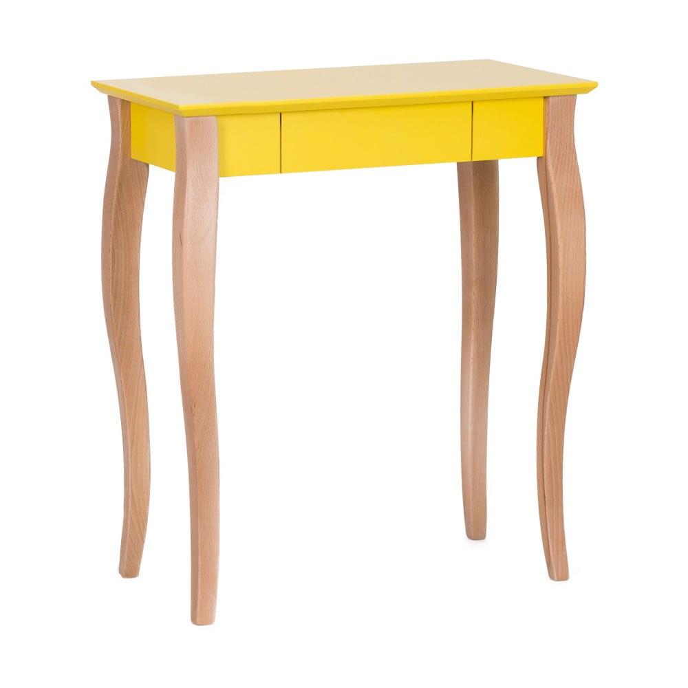 Žlutý psací stůl Ragaba Lillo, délka 65 cm