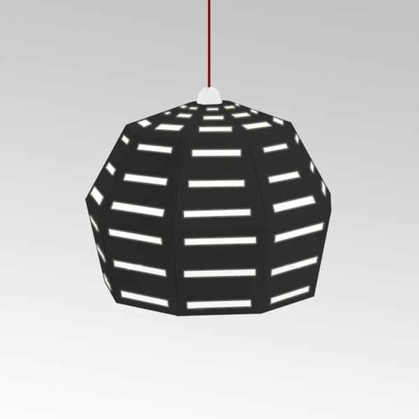 Kartonové svítidlo Uno Fantasia D Black, s červeným kabelem