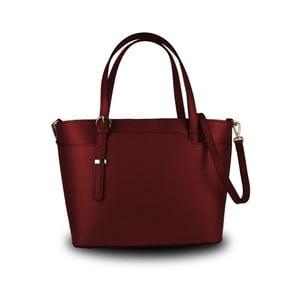 Červená kabelka z pravé kůže JOHN FISH Simple