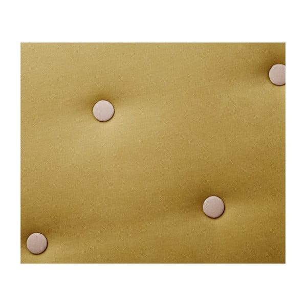 Colțar cu șezlong pe partea stângă Scandi by Stella Cadente Maison Constellation, verde - galben