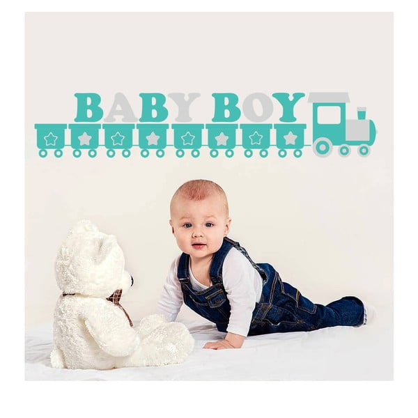 Samolepka na zeď Baby Boy, 70x50 cm