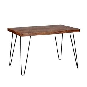 Jídelní stůl z masivního sheeshamového dřeva Skyport BAGLI, 120 x 80 cm