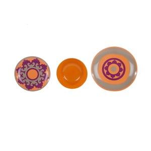 Sada 18 ks keramických talířů Morgana Orange
