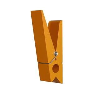 Oranžový věšák ve tvaru kolíčku Swab