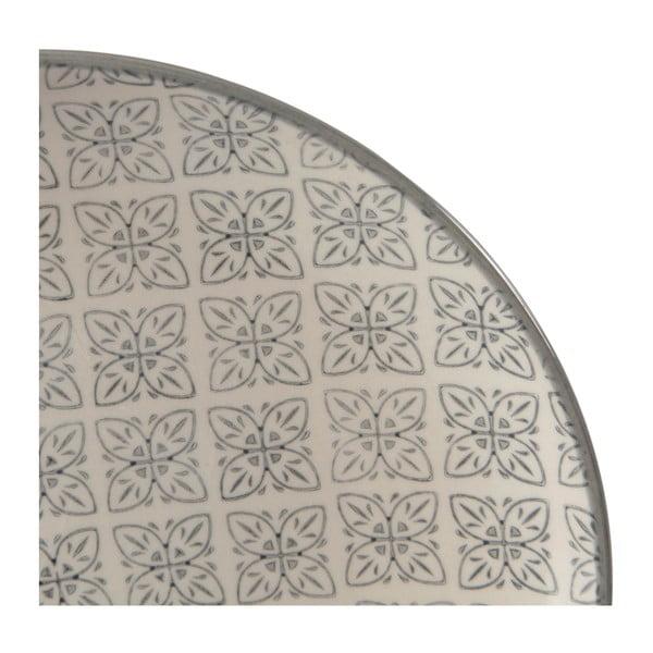 Sada 4 porcelánových talířů Zellige, 20.5 cm