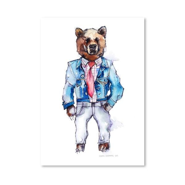 Plakát Mac the Bear, 30x42 cm