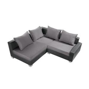 Antracitovo-šedá sedačka Interieur De Famille Paris Aventure, levý roh