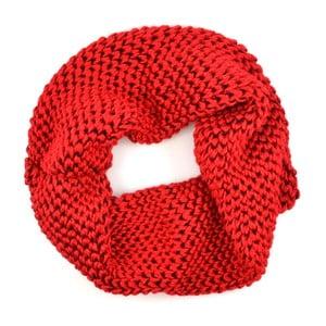 Dámská kruhová šála Komin Red