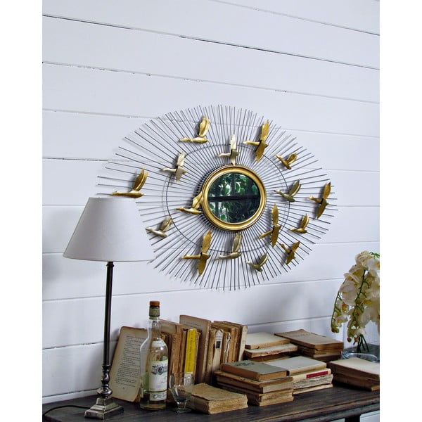 Dekorativní zrcadlo Birds, 106 cm