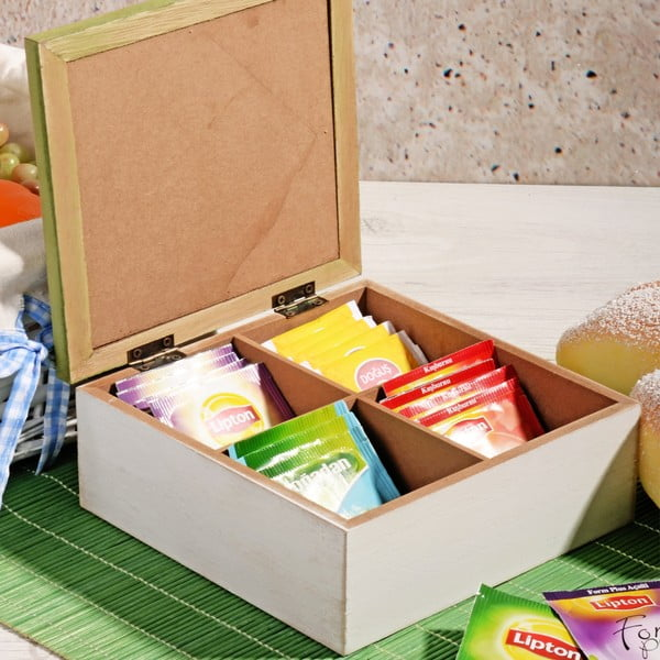 Bambusový box na čaj se 4 přihrádkami Herbal