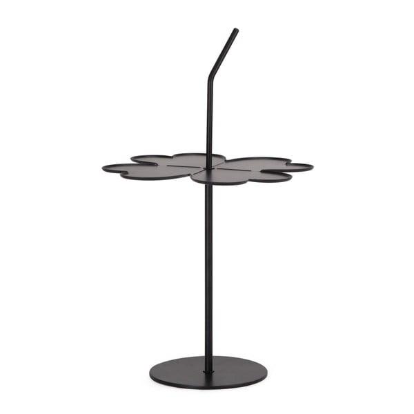 Černý odkládací stolek Garageeight A Four Leaf