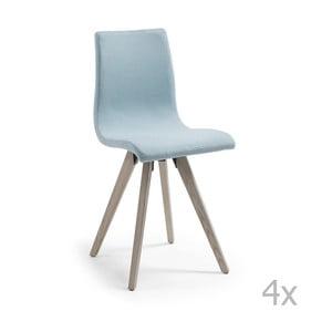 Set 4 scaune cu picioare de lemn La Forma Una