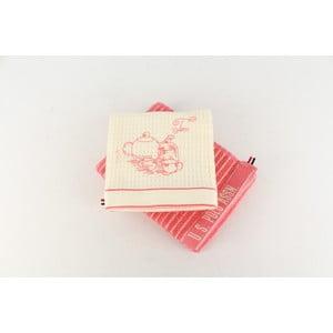 Sada 2 utěrek U.S. Polo Assn Sturgis Pink, 50x70 cm