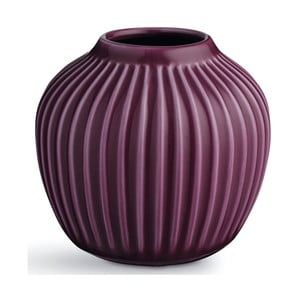 Fialová kameninová váza Kähler Design Hammershoi,výška 12,5 cm