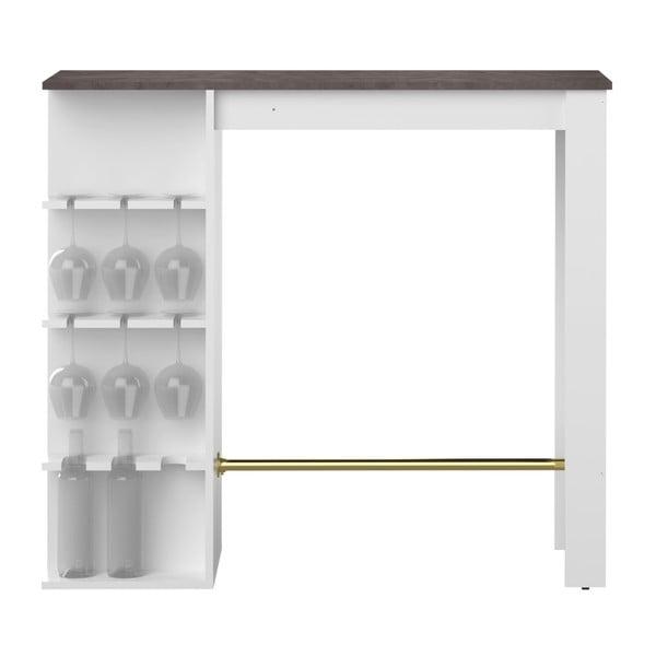 Bílý barový stůl TemaHome Viso