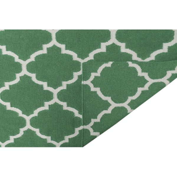 Zelený vlněný koberec Bakero Elizabeth, 200x140cm