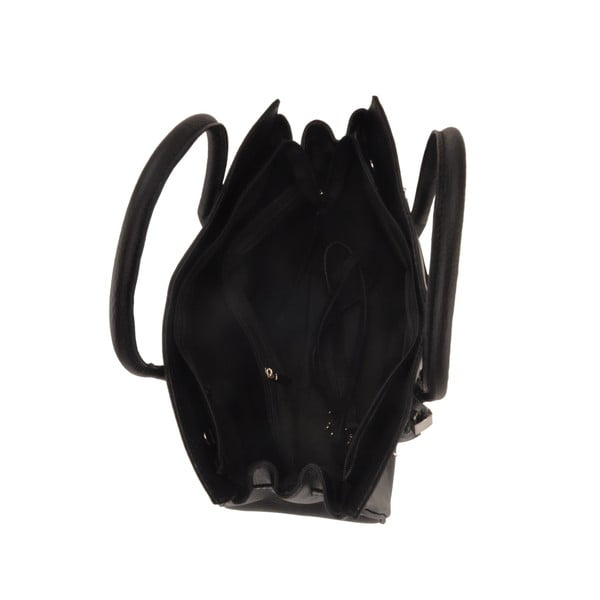 Černá kožená kabelka Florence Gallina