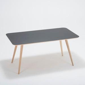 Jídelní stůl z dubového dřeva Gazzda Linn, 140x90x75cm