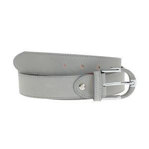 Šedý kožený pásek Giulia Bags BLT,délka110cm