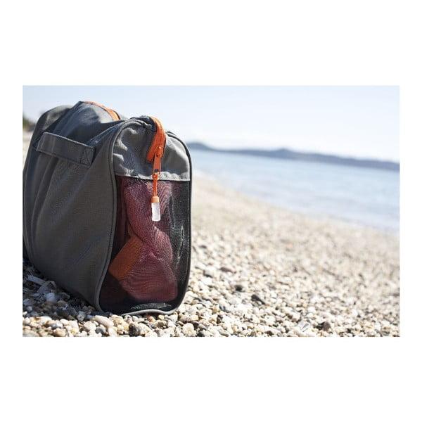 Fialová plážová osuška s rohovými kapsami Terra Nation One Moe,90x180cm
