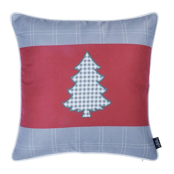 Czerwono-szara poszewka na poduszkę Apolena Honey Tree, 45x45 cm