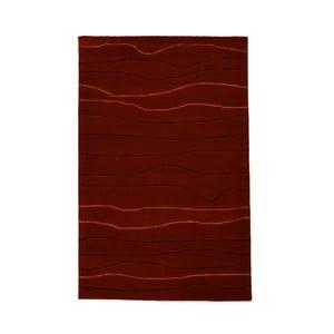 Ručně tkaný koberec Tufting, 120x180 cm, vínový