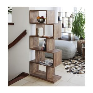 Bibliotecă din lemn de palisandru Massive Home Lia