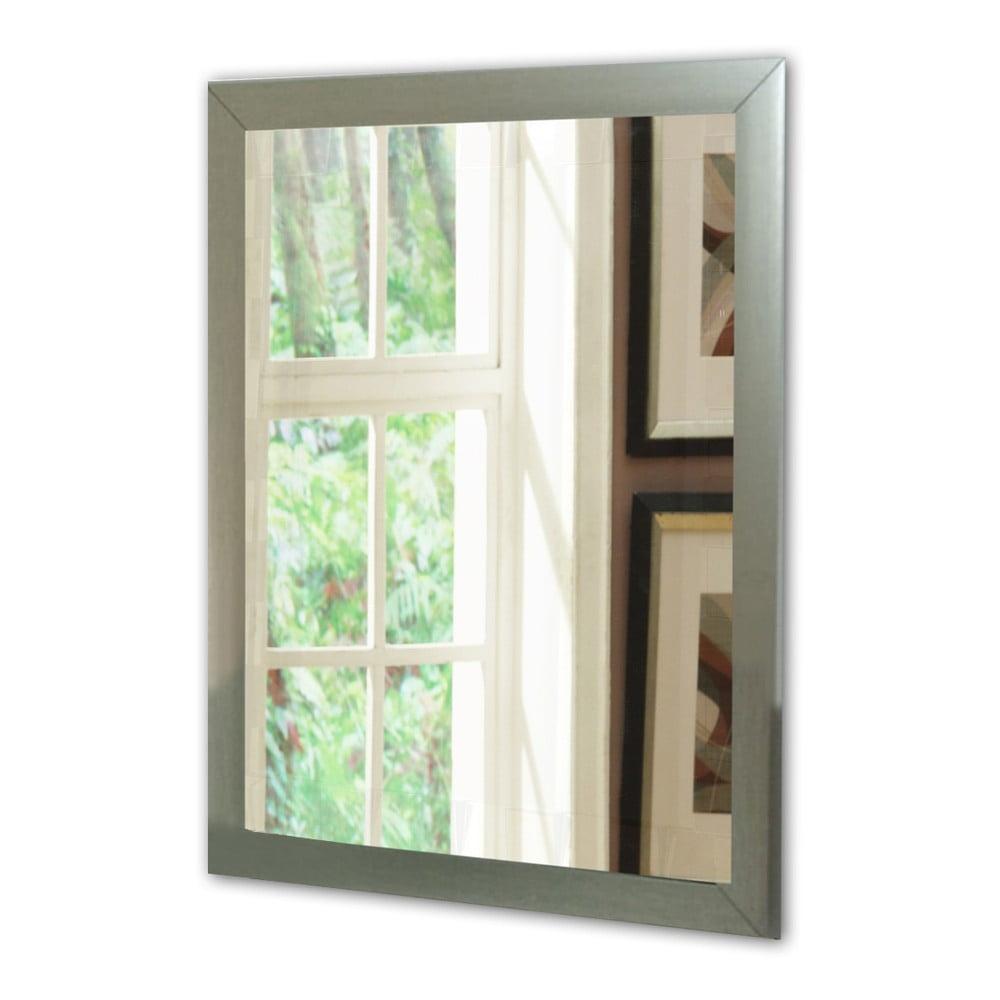 Nástěnné zrcadlo s rámem ve stříbrné barvě Oyo Concept, 40 x 55 cm
