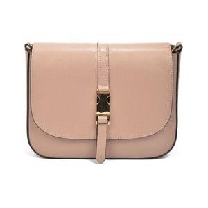 Pudrově růžová kožená kabelka Renata Corsi Detta