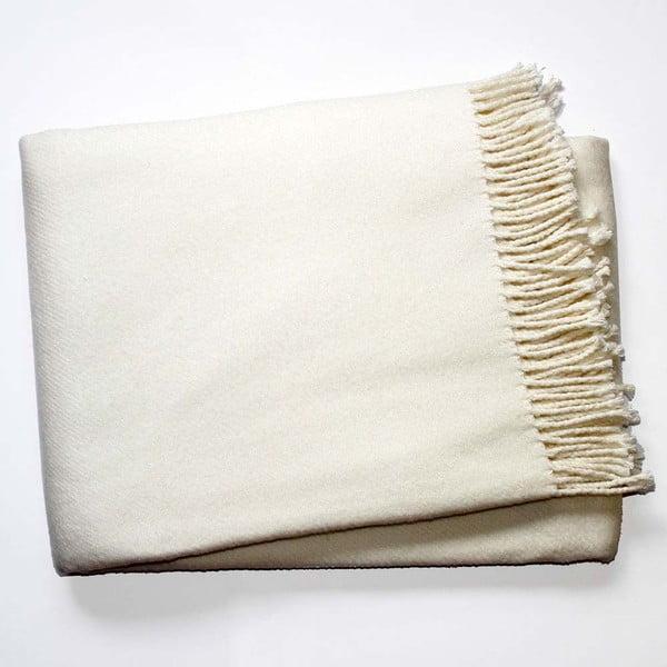 Krémově bílá deka Euromant Basics, 140 x 180 cm