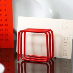 Červený stojan na dopisy Letter Rack