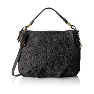 Černá kožená kabelka Chicca Borse Murno