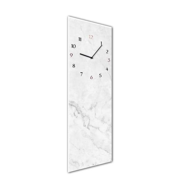 Ceas de perete Styler Glassclock Marble, 20 x 60 cm