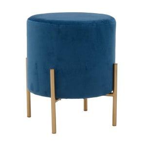 Modrá stolička sesametovým potahem InArt Metallic