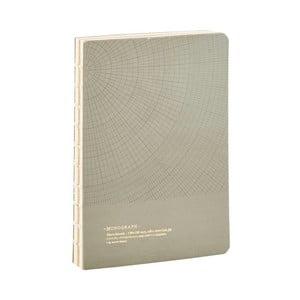 Šedý zápisník Monograph Geometric