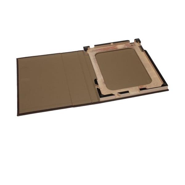 Kožený obal na iPad 2/3/4, černý rám
