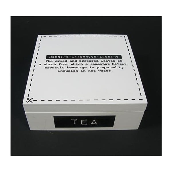 Krabička na čaj White Tea, 18 cm