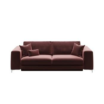 Canapea extensibilă cu 3 locuri devichy Rothe, roz închis de la devichy