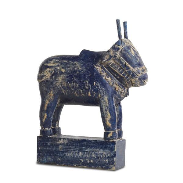 Dekorativní soška Zalu, modrá