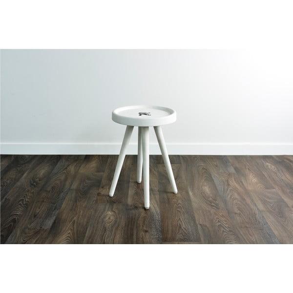 Odkládací stolek se světle šedými detaily Hawke&Thorn Preston