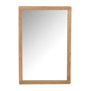 Oglindă cu ramă din lemn de stejar Rowico Gorgona