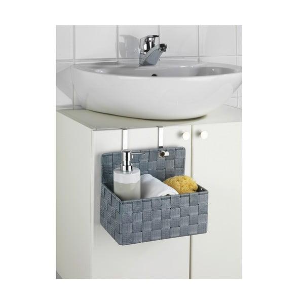 Šedý koupelnový organizér Wenko Adria