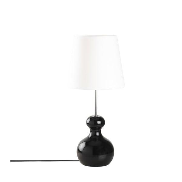 Drevená stolová lampa v čiernej farbe Opviq lights Mallina