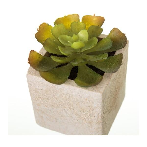 Sada 6 umělých dekorací ve tvaru exotických kaktusu v květináči Unimasa