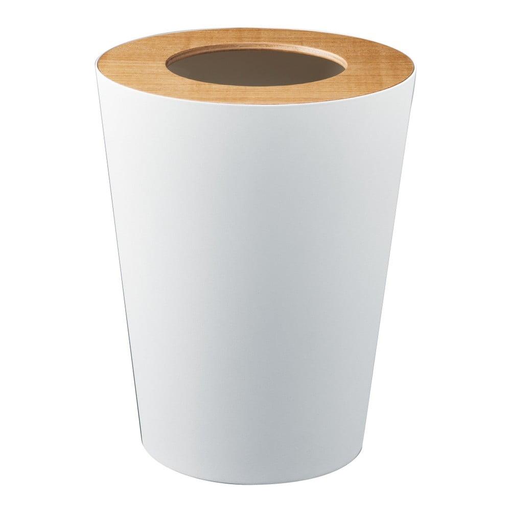 Bílý odpadkový koš YAMAZAKI Rin Round