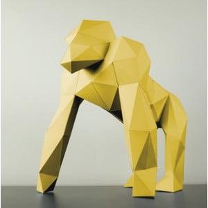 Papírová socha Gorila, žlutá