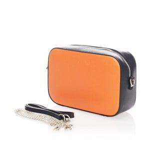 Kožené psaníčko Krole Kath, oranžová/černá