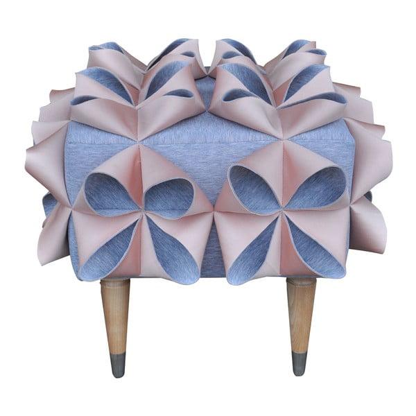Taburetka Origami, růžová