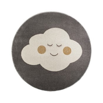 Covor rotund KICOTI Cloud, ø 133 cm, gri-alb imagine
